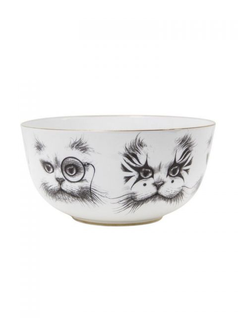 Cat Monocle & Clown Cat Bowl