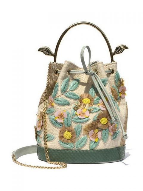 Bumbleebeebag in raffia embroidery